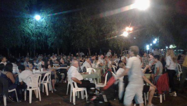 El Patio Campero diseñado para el evento se desbordo de publico