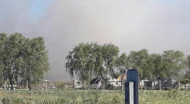 El incendio se genero en el Relleno sanitario de Viamonte