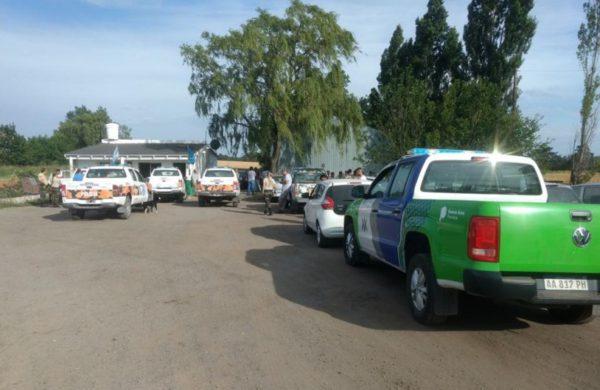 El procedimiento policial en uno de los establecimientos en Tandil – foto el Eco de Tandil