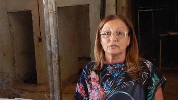 Elisa Gutierrez mostro el avance de obras en la nueva Terapia Intensiva del Hospital
