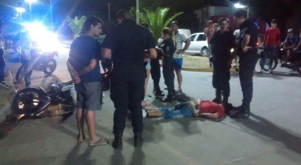 Los delincuentes bajo la custodia de la policia -fuente La Trocha Digital