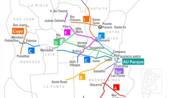 Mapa de rutas a refaccionar