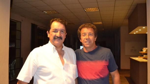 Pablo Helfenberger y Miguel Sancholuz de Comision Directiva del Golf