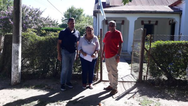 Vaira, Isturiz y Baglietto en las afueras de la Delegacion de Naon