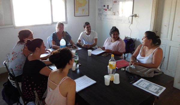 Alumnos que asistieron al curso de verano este viernes junto a Juan Pablo Parise