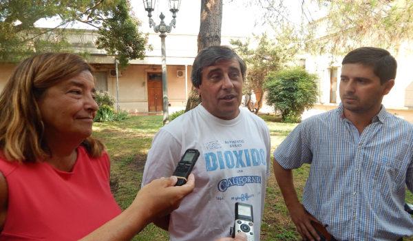 Cereigido, Falciglia y Ferragut en dialogo con medios de prensa