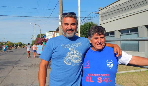 Luis Martinez e Ignacio Brangeri felices por el desarrollo del equipo Transporte El Sol – Club Libertad