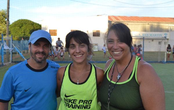 Marcelo Basile, Florencia Fernandez y Silvia Aramburu