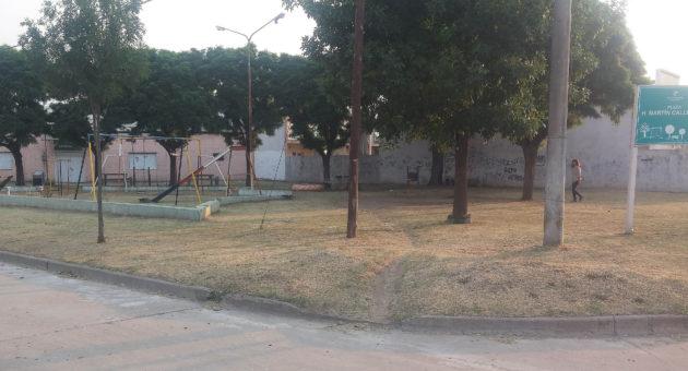 Plaza Martin Callegaro sufre gran deterioro