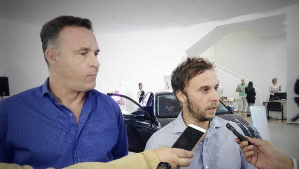 Adrian Rosadilla y Juan Pedro Porcaro en dialogo con la prensa local
