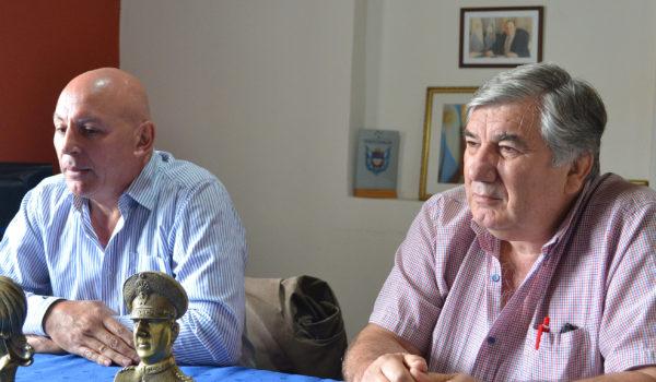 Gagliano y Delgado en dialogo con la prensa local