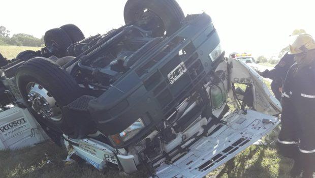 La cabina del conductor se destruyo por completo