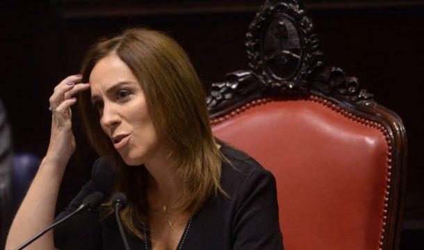 Maria Eugenia Vidal dejo su discurso en al Asamblea Legislativa