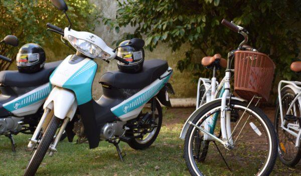 Motos y bicicletas incorpordas por el municipio