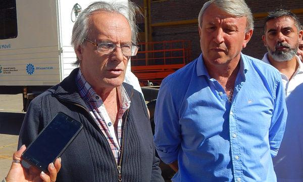 Omar Malondra y Silvio Balbo en dialogo con los medios de prensa