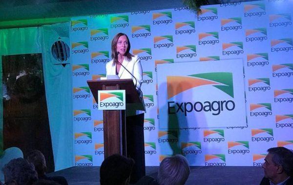 Vidal este lunes durante la cena de Expoagro – foto Expoagro