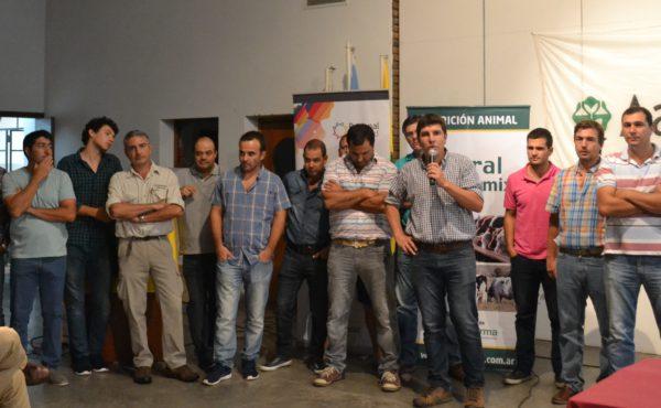Juan Marsigliani junto a miembros de la Regional Aapresid 9 de Julio – Carlos Casares