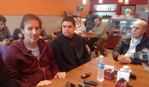 El Vice Ministro Martinez acomañado del concejal Baglieto e Ignacio Palacios