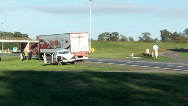 El transporte involucrado en el accidente de hoy en ruta 5 a metros del puente de ruta 65