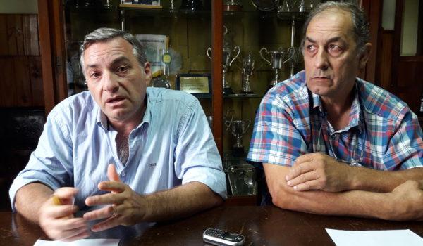 Fernando Mato y Aldo Esteban durante el dialogo con la prensa