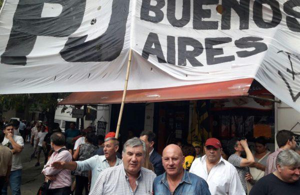 Gagliano y Delgado en la jornada de este miercoles en la convocatoria del PJ
