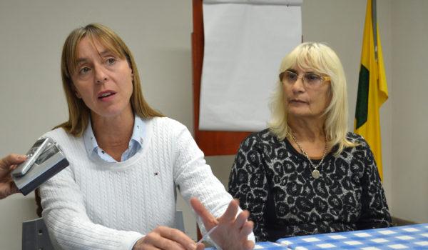Jorgelina Montoya y Graciela Vadillo en dialogo con la prensa