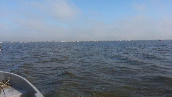 Laguna Hinojo Grande, donde tres nuevejulienses sufrieron el hundimiento de la embarcación