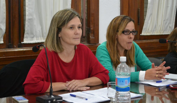 Maria Jose Gentile junto a la Secretaria del HCD