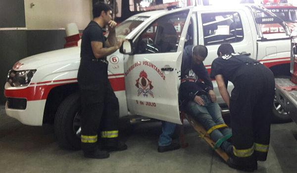 Practica de rescate en vehiculo