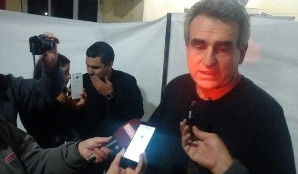 Agustin Rossi durante el dialogo con la prensa