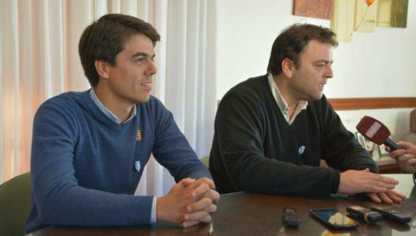 Barroso y Barbieri durante las declaraciones de prensa
