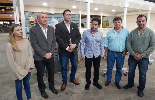 Barroso y Sanchez Zinny junto al Director de la Tecnica, la Directora de Educacion y los Consejeros Asenjo y Farias