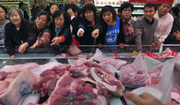 China duplicara su consumo de carne