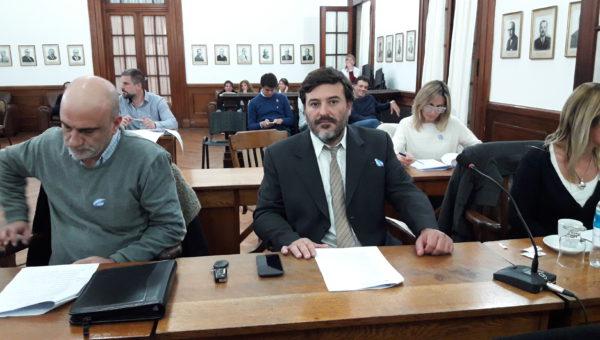 Igancio Mato ya en su funcion como Concejal de 9 de Julio