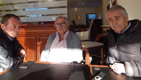 Jorge Medica junto a Raul Crucianelli y Marcelo Balfiorani