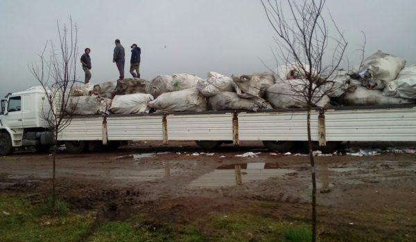 La ultima venta que se realizo fue de 120 toneladas de reciclables