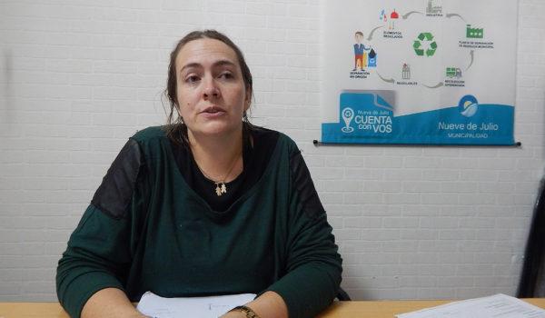 Lic Angie Merlino Directora de Gestion Medio Ambiente Municipalidad de 9 de Julio