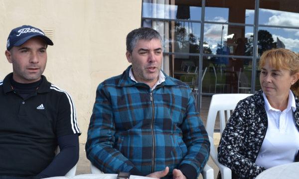 Miguel Pavone, Hernan Bono y Nancy Amado en dialogo con la prensa local
