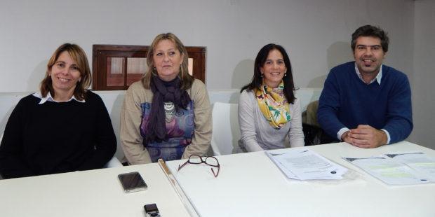 Claudia Josserme, Liliana Vallabriga, Cecilia Alonso y Facundo Berazardi