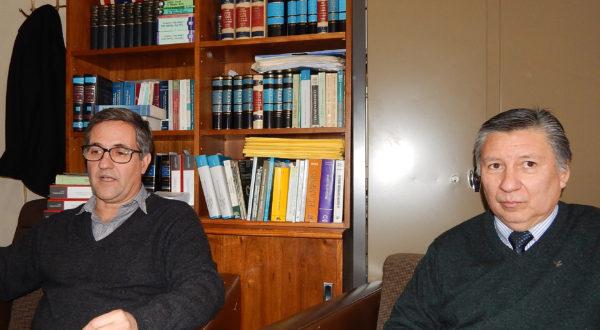 El Juez de Paz Dr Alejandro Casas junto al Secretario del Juzgado, Dr Raul Granzellla