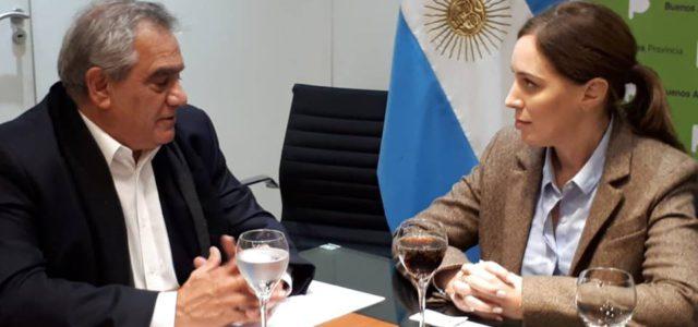Iannizzotto y Vidal durante el encuentro