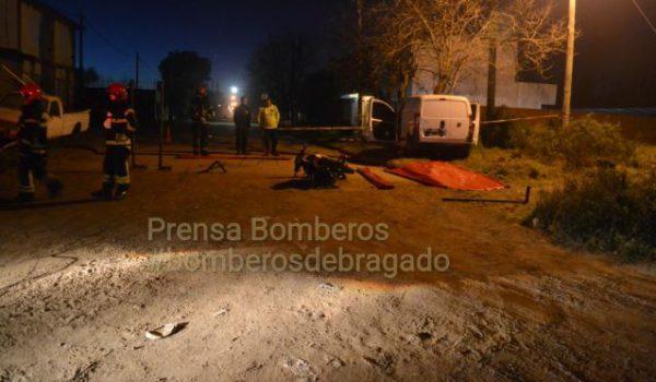 Imagen del lamentable hecho en Bragado