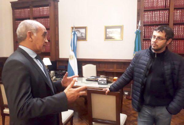 Instancia de la reunion entre el vice gobernador de Buenos Aires y el legislador nuevejuliense