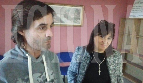 Julian y Vivana los voceros del grupo Alerta Comerciantes