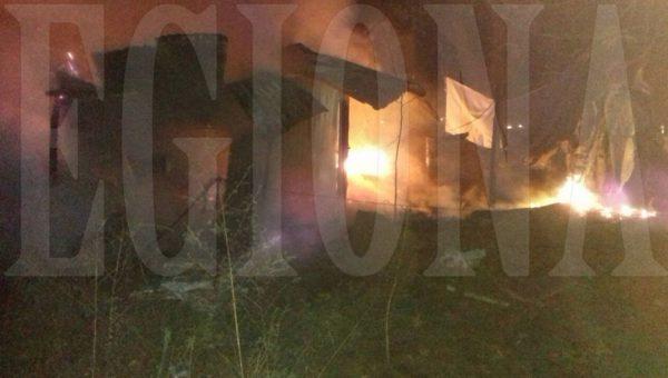 La casilla tomada por las llamas del fuego