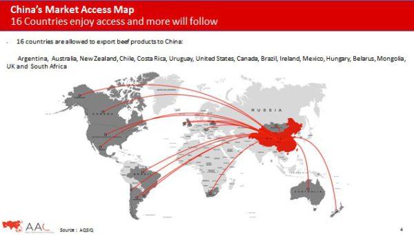 16 paises exportan carnes a China