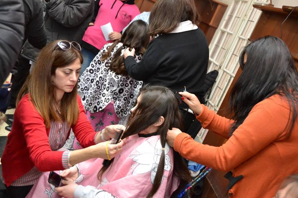 "La solidaridad volvió a decir presente a la convocatoria de ""Pelucas Solidarias"""