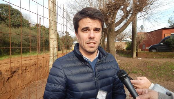 Paolo Barbieri detallo aspectos de la obra de desagüe que finalizaria en cuatro meses
