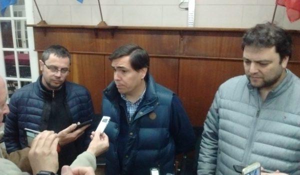 Barroso, Tizado y Vivani en dialogo con la prensa