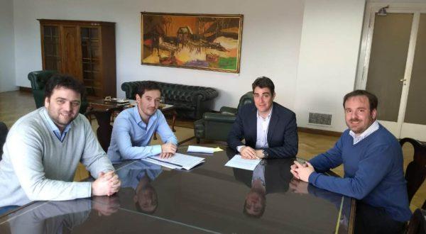 Barroso junto a Lossino y el Ministro Igaucel